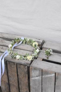 Couronne & boutonnière -mariage - artmaniafleur