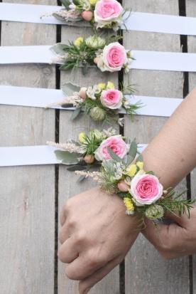 Bracelets cortège - mariage -artmaniafleur